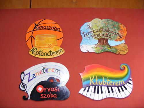 Tihanyi Bencés Iskola ajtótáblái