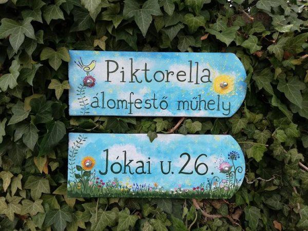 piktorella-szücs borka-utcatabla-egyedi-virágos-kézzelfestett-cserép-kézműves termékek- piktorella álomfestő műhelyből